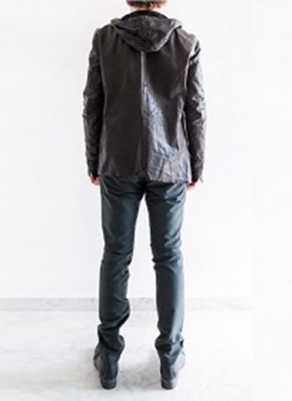 Layer 0 For Guidi cbm black leather hoodie hoody jacket soft horse full grain hide m 7