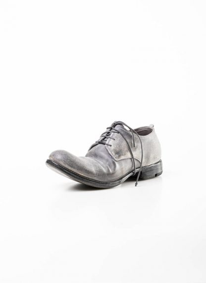 Layer 0 alessio zero men derby shoe stiefel schuh goodyear 1.5 h7 gy goodyear horse shell cordovan rev leather light grey dirty white hide m 4