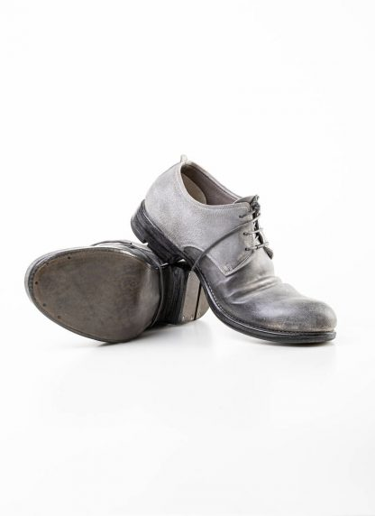 Layer 0 alessio zero men derby shoe stiefel schuh goodyear 1.5 h7 gy goodyear horse shell cordovan rev leather light grey dirty white hide m 5