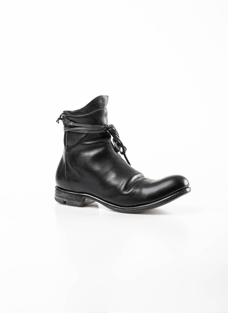 LAYER 0 , Double Zip Boot 1.5 h16 zip Goodyear, black, horse leather