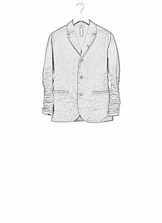 Layer 0 men h blazer jacket grey canvas cotton hide m 1