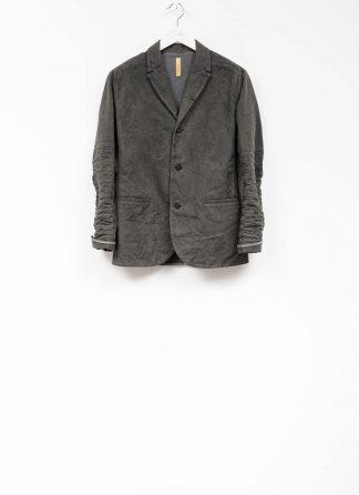 Layer 0 men h blazer jacket grey canvas cotton hide m 2