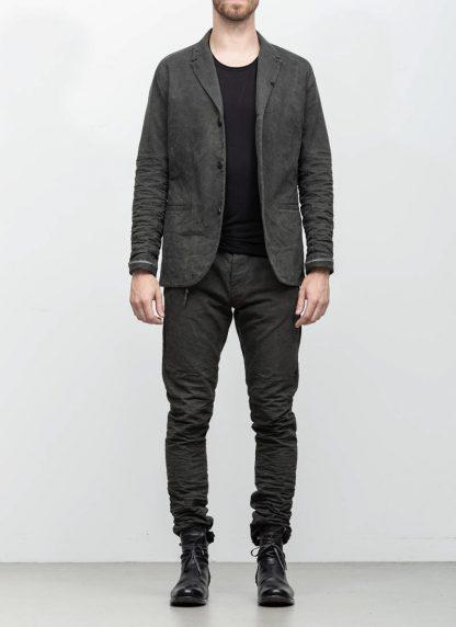 Layer 0 men h blazer jacket grey canvas cotton hide m 3