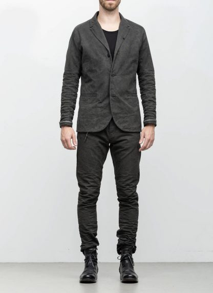 Layer 0 men h blazer jacket grey canvas cotton hide m 4