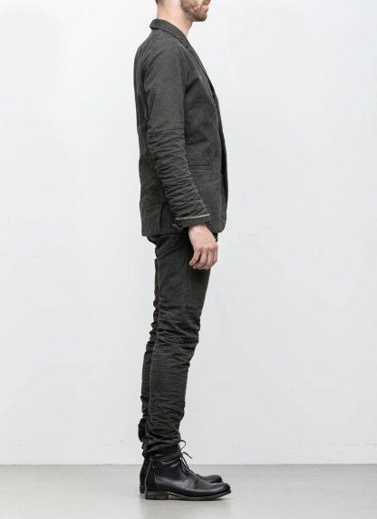 Layer 0 men h blazer jacket grey canvas cotton hide m 5