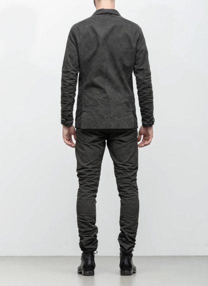 Layer 0 men h blazer jacket grey canvas cotton hide m 6