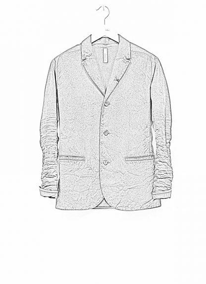 Layer 0 men h blazer jacket herren jacke canvas cotton grey hide m 1