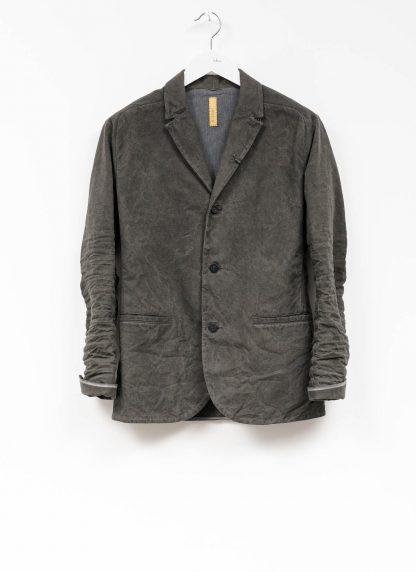 Layer 0 men h blazer jacket herren jacke canvas cotton grey hide m 2