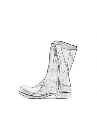 Leon Emanuel Blanck Distortion Combat Zip Boot Horse Full Grain Black Hide M 1