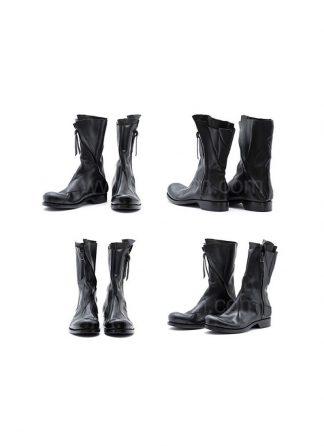 Leon Emanuel Blanck Distortion Combat Zip Boot Horse Full Grain Black Hide M 2