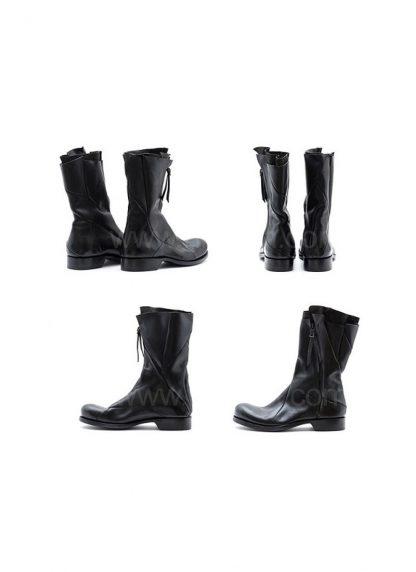 Leon Emanuel Blanck Distortion Combat Zip Boot Horse Full Grain Black Hide M 3
