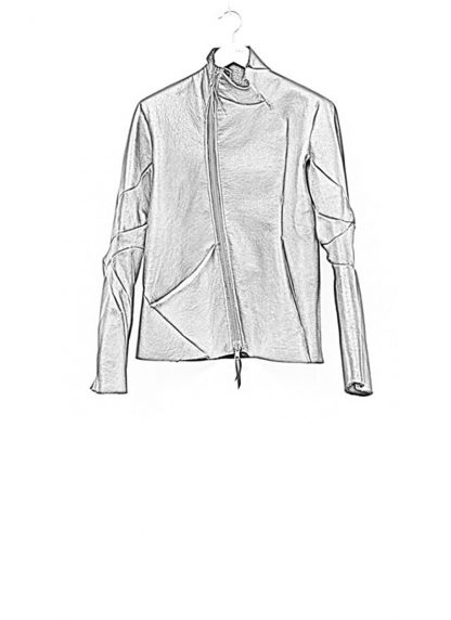 Leon Emanuel Blanck FW18 distortion men jacket merino shearling leather black hide m 1