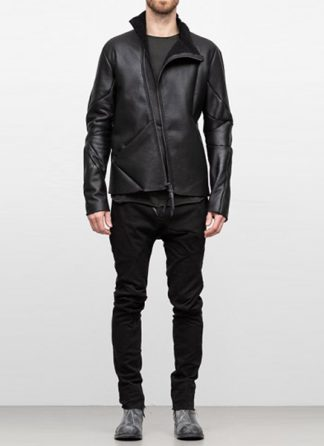Leon Emanuel Blanck FW18 distortion men jacket merino shearling leather black hide m 2
