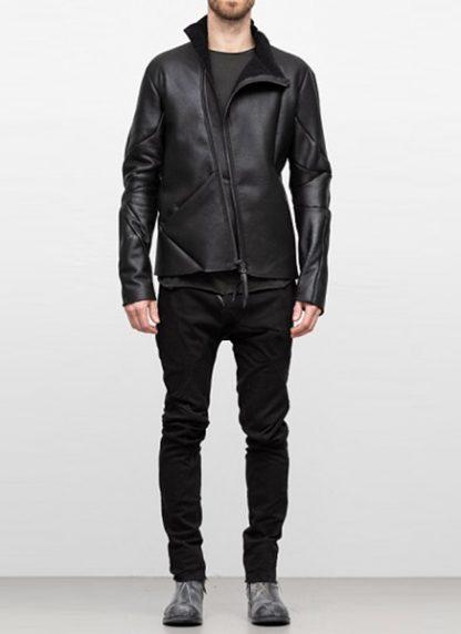 Leon Emanuel Blanck FW18 distortion men jacket merino shearling leather black hide m 2