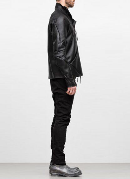 Leon Emanuel Blanck FW18 distortion men jacket merino shearling leather black hide m 4