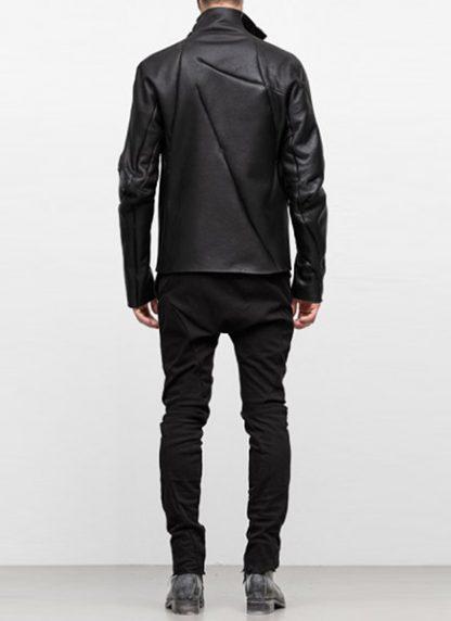 Leon Emanuel Blanck FW18 distortion men jacket merino shearling leather black hide m 5