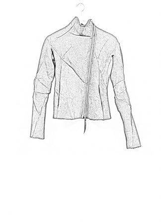 Leon Emanuel Blanck FW18 women distortion leather jacket merino curly black hide m 1