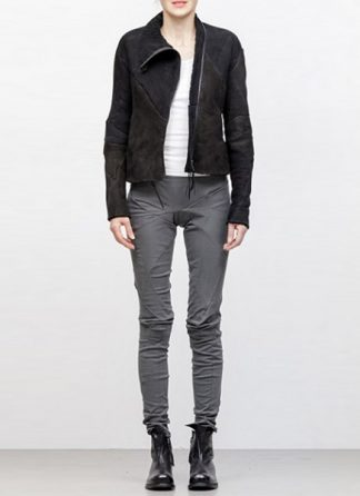 Leon Emanuel Blanck FW18 women distortion leather jacket merino curly black hide m 2