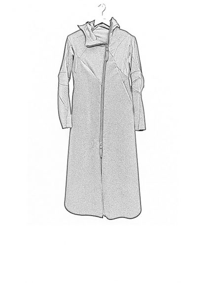Leon Emanuel Blanck FW18 women distortion overundercoat coat angora wool cashmere black hide m 1