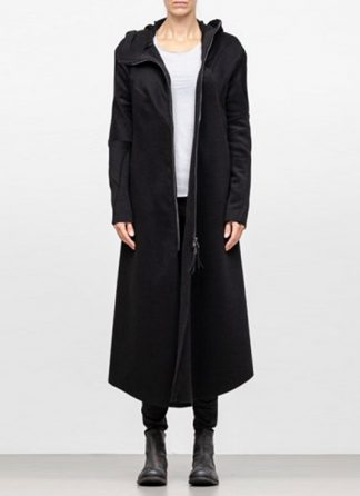 Leon Emanuel Blanck FW18 women distortion overundercoat coat angora wool cashmere black hide m 2