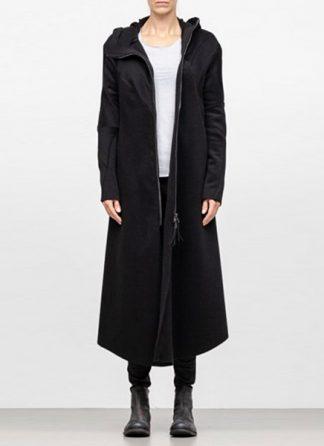Leon Emanuel Blanck FW18 women distortion overundercoat coat angora wool cashmere black hide m 2