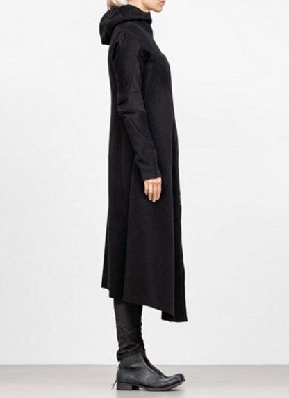 Leon Emanuel Blanck FW18 women distortion overundercoat coat angora wool cashmere black hide m 4
