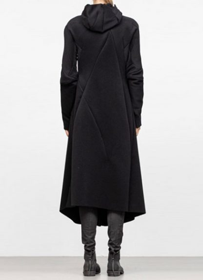 Leon Emanuel Blanck FW18 women distortion overundercoat coat angora wool cashmere black hide m 5