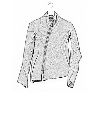 Leon Emanuel Blanck FW18 women distortion straight jacket angora wool cashmere black hide m 1