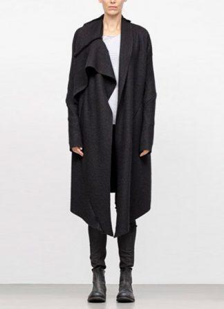 Leon Emanuel Blanck FW18 women distortion wrap cardigan coat alpaca knit black hide m 2