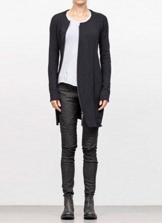 Leon Emanuel Blanck FW18 women distortion zipped dress cotton loop rib black hide m 2