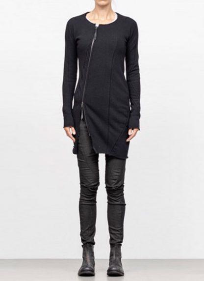 Leon Emanuel Blanck FW18 women distortion zipped dress cotton loop rib black hide m 3
