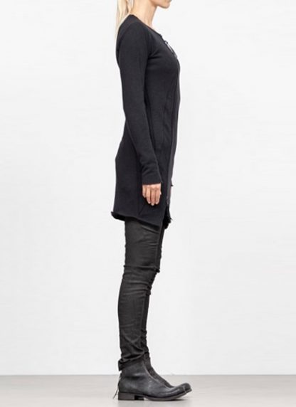 Leon Emanuel Blanck FW18 women distortion zipped dress cotton loop rib black hide m 4