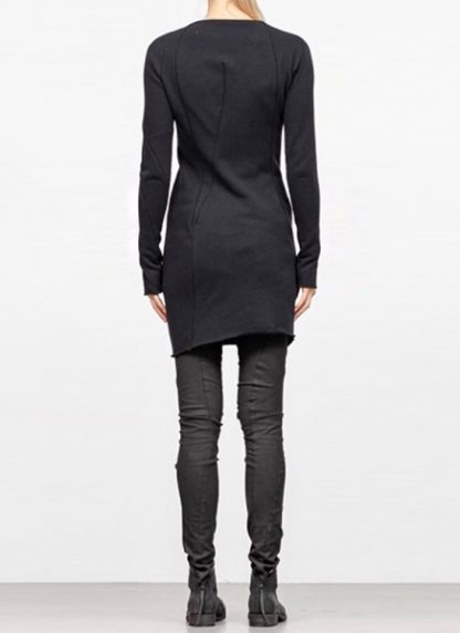 Leon Emanuel Blanck FW18 women distortion zipped dress cotton loop rib black hide m 5