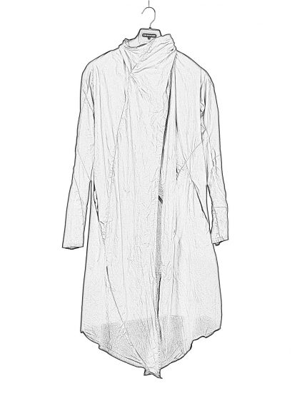 Leon Emanuel Blanck LEB women distortion wrap cardigan coat damen mantel cotton black hide m 1