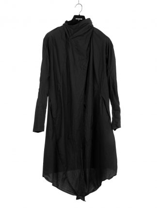 Leon Emanuel Blanck LEB women distortion wrap cardigan coat damen mantel cotton black hide m 2