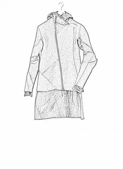 Leon Emanuel Blanck distortion men jacket LJ dark grey horse leather with removable extended coat exclusively hide m 1