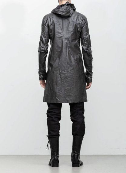Leon Emanuel Blanck distortion men jacket LJ dark grey horse leather with removable extended coat exclusively hide m 10
