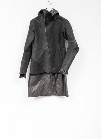 Leon Emanuel Blanck distortion men jacket LJ dark grey horse leather with removable extended coat exclusively hide m 2