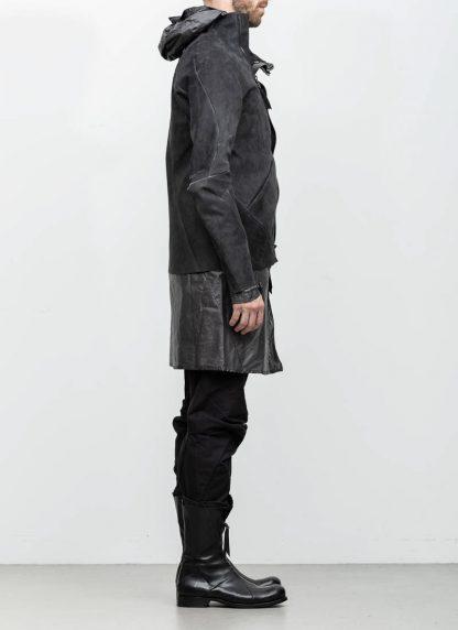 Leon Emanuel Blanck distortion men jacket LJ dark grey horse leather with removable extended coat exclusively hide m 5