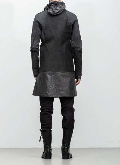 Leon Emanuel Blanck distortion men jacket LJ dark grey horse leather with removable extended coat exclusively hide m 6