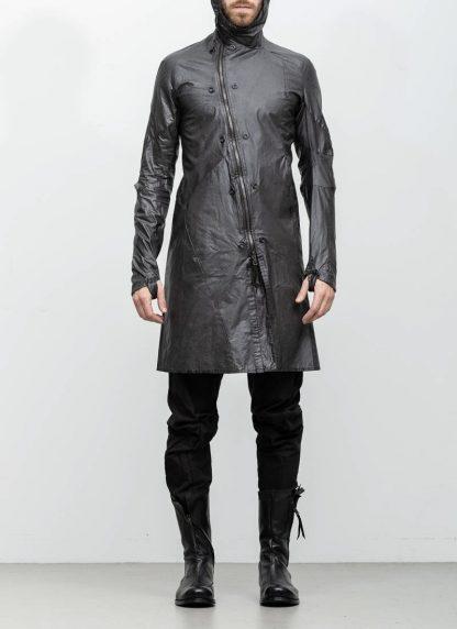 Leon Emanuel Blanck distortion men jacket LJ dark grey horse leather with removable extended coat exclusively hide m 7