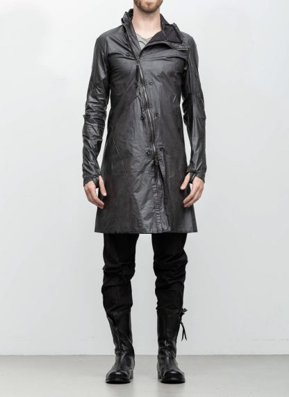 Leon Emanuel Blanck distortion men jacket LJ dark grey horse leather with removable extended coat exclusively hide m 8
