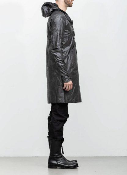 Leon Emanuel Blanck distortion men jacket LJ dark grey horse leather with removable extended coat exclusively hide m 9