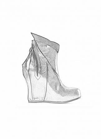 Leon Emanuel Blanck distortion women wedge boot shoe black horse full grain leather hide m 1