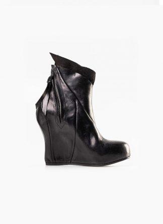 Leon Emanuel Blanck distortion women wedge boot shoe black horse full grain leather hide m 2