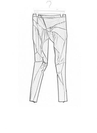 Leon Emanuel Blanck fw1718 women distortion fitted pants soft stretch lamb black hide m 1
