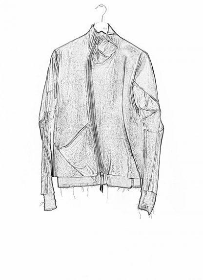 Leon Emanuel Blanck men distortion leather jacket herren jacke lederjacke horse with lining black hide m 1