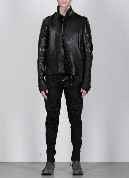 Leon Emanuel Blanck men distortion leather jacket herren jacke lederjacke horse with lining black hide m 3