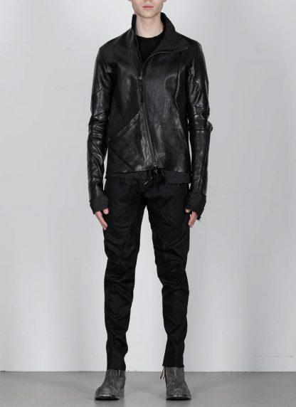 Leon Emanuel Blanck men distortion leather jacket herren jacke lederjacke horse with lining black hide m 4