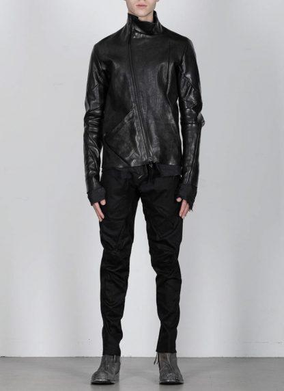 Leon Emanuel Blanck men distortion leather jacket herren jacke lederjacke horse with lining black hide m 5